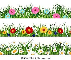 wiosna, wzory, kwiaty, batyst