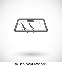 Wiper car single icon. - Wiper car. Single flat icon on...