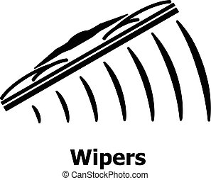 Wipers icon, simple black style