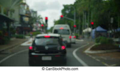 Wiping the car's windscreen - A shot of a moving car using...