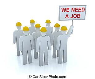 wir, arbeitslos, arbeit, mannschaft, bedürfnis, :