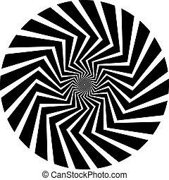 wir spirali, w, op, sztuka, styl