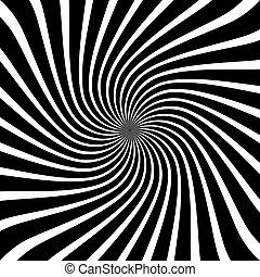 wir, styl, sztuka, spirala, op