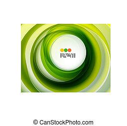 wirbel, abstrakt, grüner hintergrund