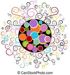 wirbel, abstraktes design, element