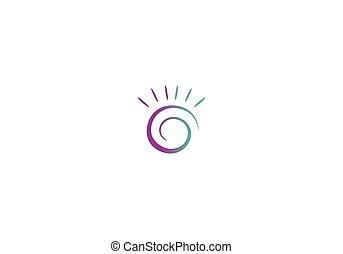 wirbel, logo, abstrakt, vektor, kreis