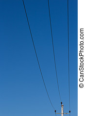 wire against the sky