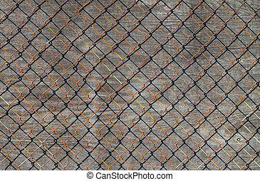 Wire and wood background.