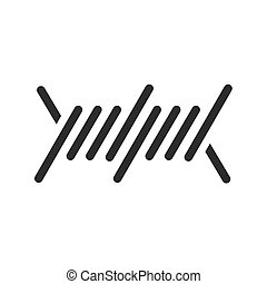 Wire, barbed, steel icon vector image. Can also be used for military. Suitable for use on web apps, mobile apps and print media.