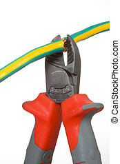 Wire cutter and wire - Side cutting pliers have a bite wire ...
