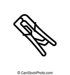 wire cutter tool icon vector outline illustration