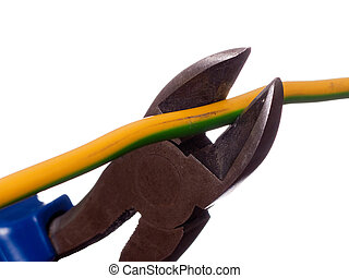 Wire cutters - Hand work equipment tool - wire cutters or...