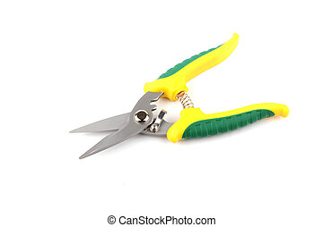 wire cutters isolated over white background with soft shadow