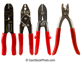 Wire Cutters - Set of wire cutters isolated on a white ...