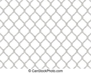 wire fence on a white background. Vector illustration.