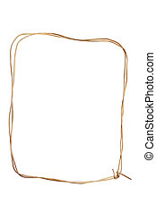 Wire frame - Frame made from wire isolated on white...