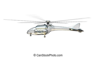 helicopter - wire frame of helicopter