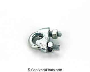 Wire grip lock on white background