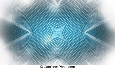 Wire highlights blue and white abstract looping background
