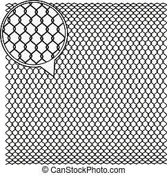 Wire Mesh background. - Steel Wire Texture - Octagon...