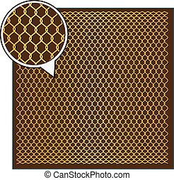 Wire Mesh background. - Steel Wire Texture - Octagon...