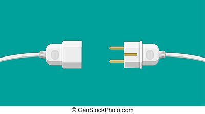 Wire plug and socket.