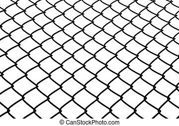 Wire rhomb net background - Wire rhomb pattern steel net...