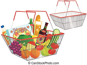 Wire shopping baskets