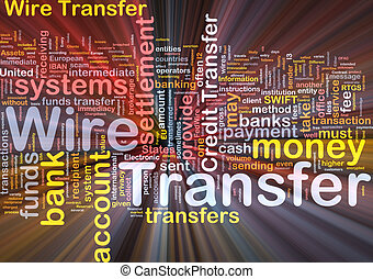 Wire transfer background concept glowing - Background...