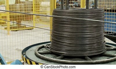 Wire wrap-special robot - Coil wires automatic close-up...