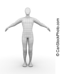 Wired man - Illustration of a wired man. Futuristic concept