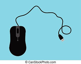 Wired Mouse Vector