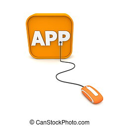 Wired to APPs - Orange Mouse