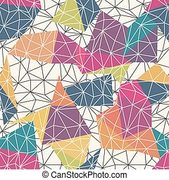 Wireframe Abstract Surface Seamless Pattern