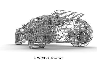 Wireframe car