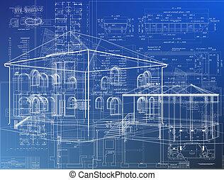 wireframe, edificios