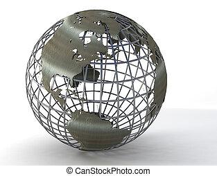wireframe, globe