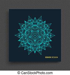 wireframe, illustration., astratto, globale, sfera, lines., collegato, connections., digitale, griglia, 3d, design.
