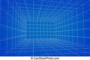 wireframe, matrix, hintergrund