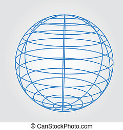 wireframe of sphere graphic vector eps10