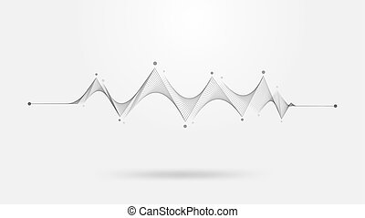 Wireframe sound wave abstract background