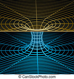wireframe, symbol, -, wormhole