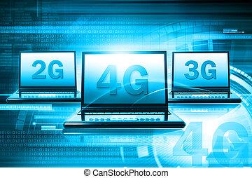Wireless 4G technology