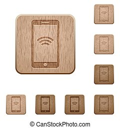Wireless cellphone wooden buttons