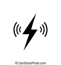 Wireless charging vector icon isolated on white