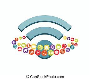 Wireless communication concept.