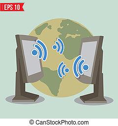Wireless communication - Vector illustration - EPS10