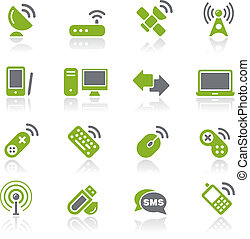Wireless & Communications / Natura - Vector icons for your...