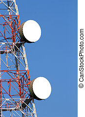wireless communications tower with antennas
