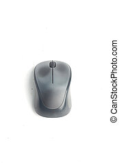 Wireless computer mouse isolated on white background